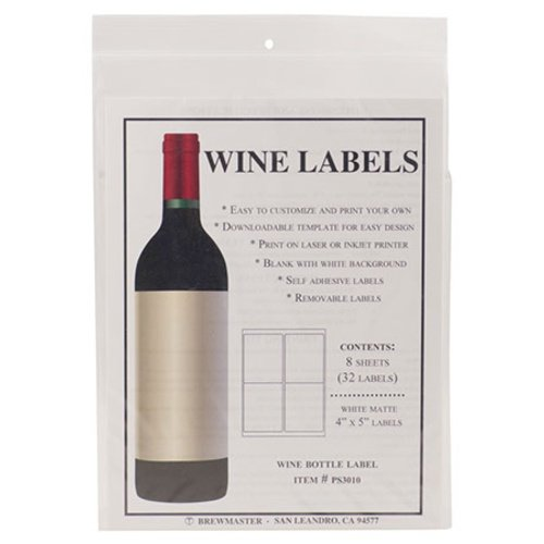 Bottle Labels - Wine - Pack of 32 - LABEL120