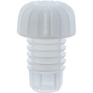 White Plastic Cork (100) - W459