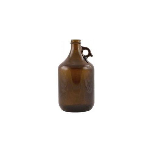 Beer Bottles - 64 oz Amber Trigger Grip Growler - Case of 6 - GL515CASE