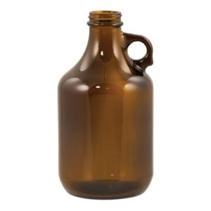Beer Bottles - 32 oz Amber Growler - Case of 12 - GL505CASE