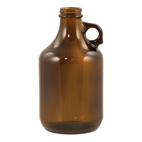 Beer Bottles - 32 oz Amber Growler - Case of 12 - GL505CASE