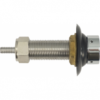 Faucet Shank - 3 in. Stainless with Nut & Nipple - D1244A